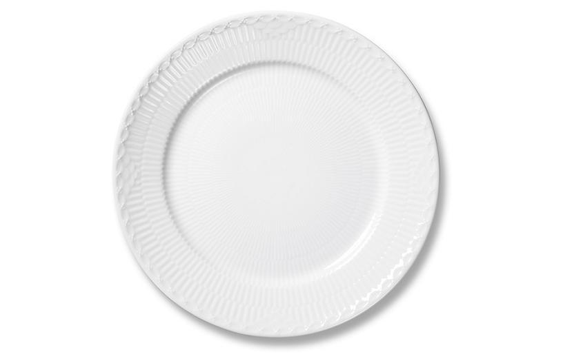 White Half Lace Salad Plate, 8.75