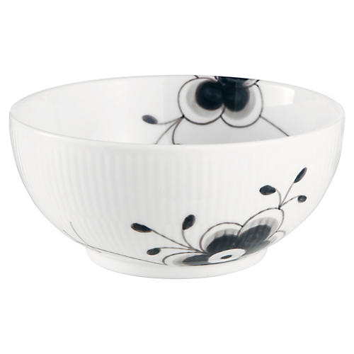 Fluted Mega Serving Bowl, Black/White