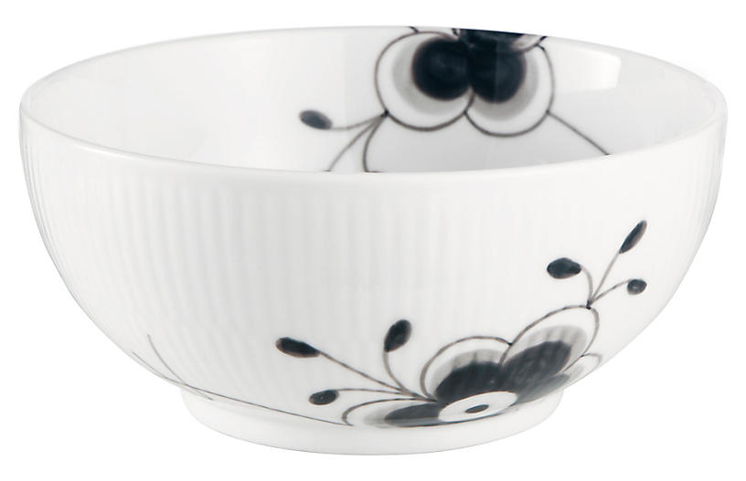 Fluted Mega Serving Bowl, Black/White