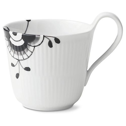 Fluted Mega Coffee Mug, White/Black