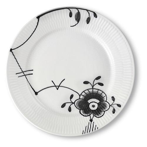 Fluted Mega Salad Plate, Black/White