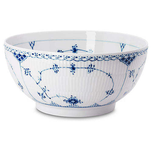 Half Lace Bowl, Blue/White