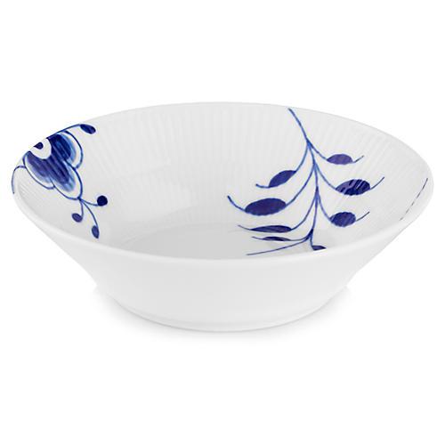 Fluted Mega Dessert Bowl, Blue/White