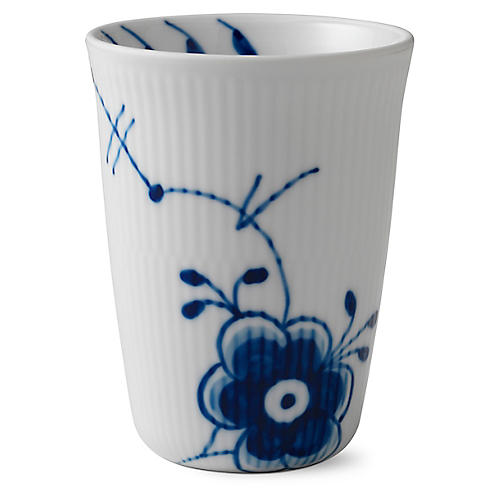 Fluted Mega Tall Tumbler, Blue/White