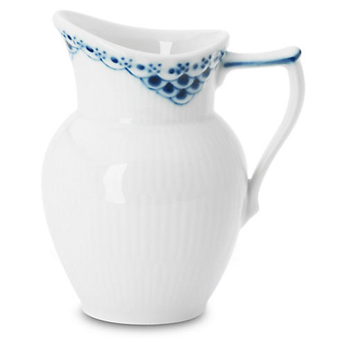 Princess Creamer, White/Blue