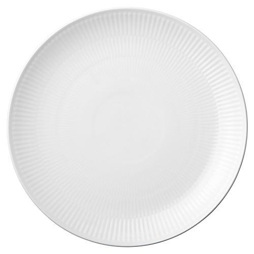 Fluted Dinner Plate, White