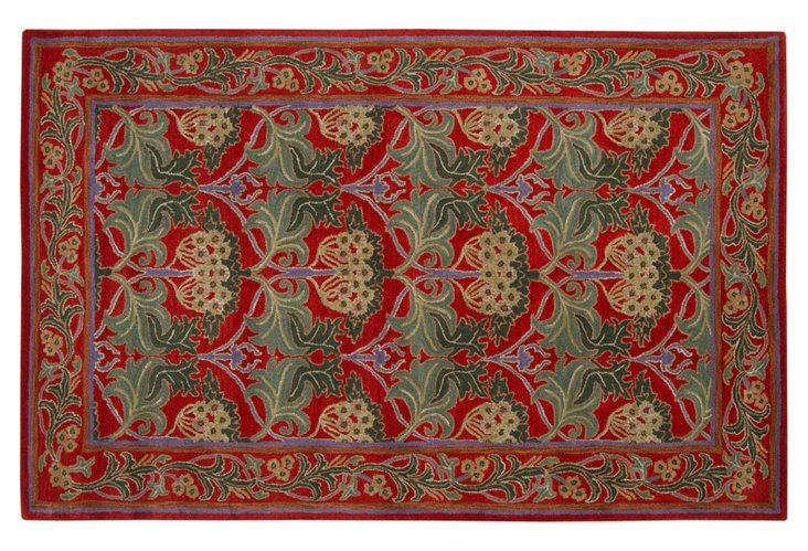 Bungalo Rug, Red
