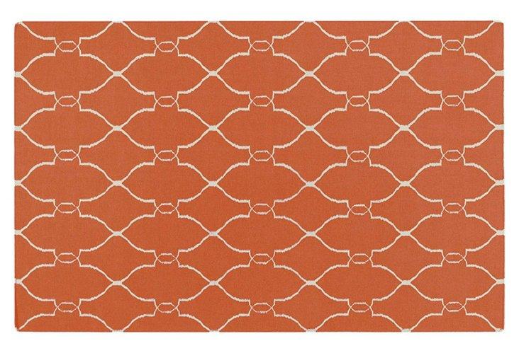 Pippa Flat-Weave Rug, Pumpkin