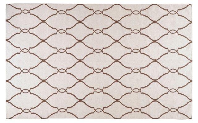 2'x3' Pippa Flat-Weave Rug, Ivory
