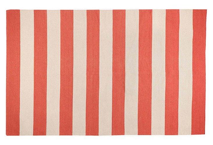 Hermes Flat-Weave Rug, Red