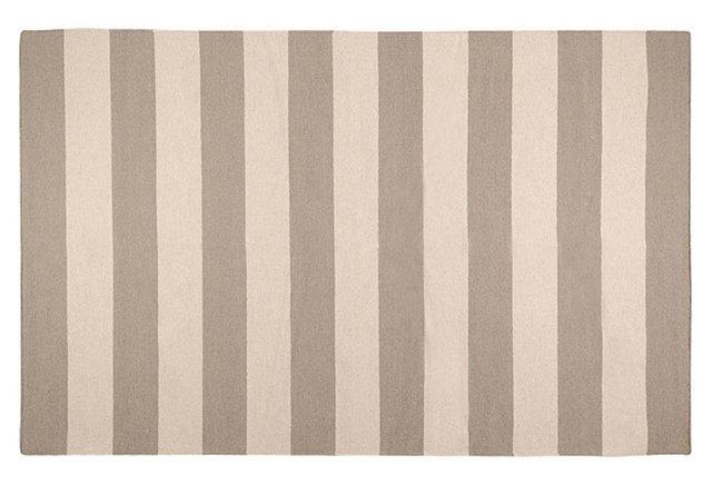 Hermes Flat-Weave Rug, Beige