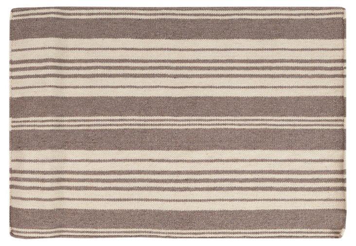 2'x3' Farmhouse Rug, Gray/Ivory