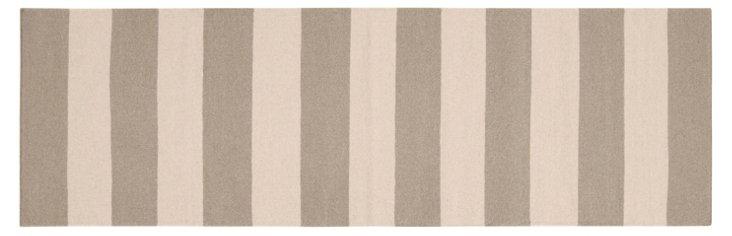 """2'6""""x8' Hermes Flat-Weave Runner, Taupe"""