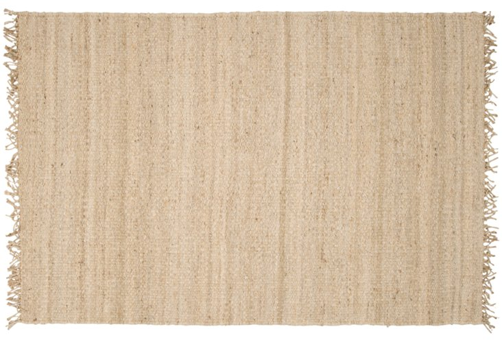 6' Round Kiki Jute Flat-Weave Rug, Sand