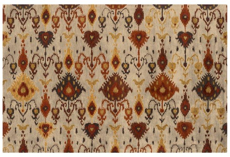 5'x8' Surroundings Rug, Ivory/Rust
