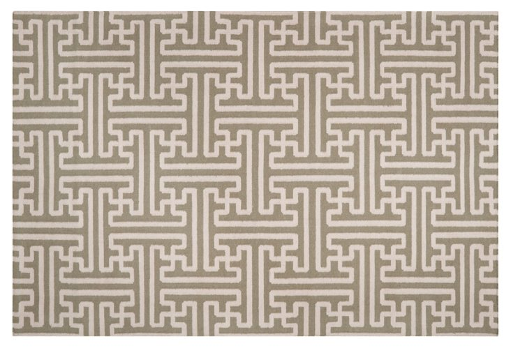 """2'6""""x8' Archive Flat-Weave Runner, Sage"""