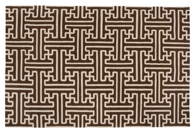 Archive Flat-Weave Rug, Coffee