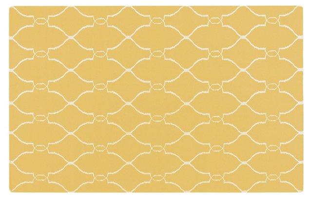 Pippa Flat-Weave Rug, Gold/Oatmeal