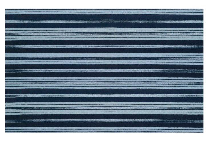 Farmhouse Rug, Navy/Light Blue