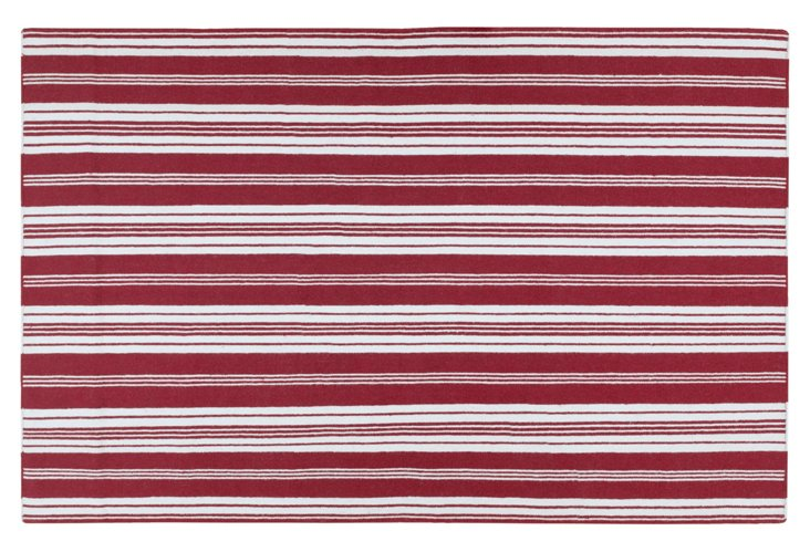 Newport Rug, Red/White