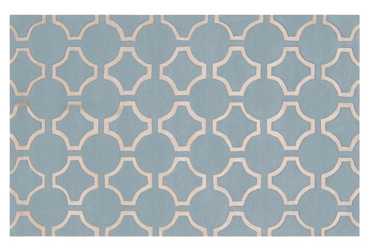 Theia Rug, Silver Blue