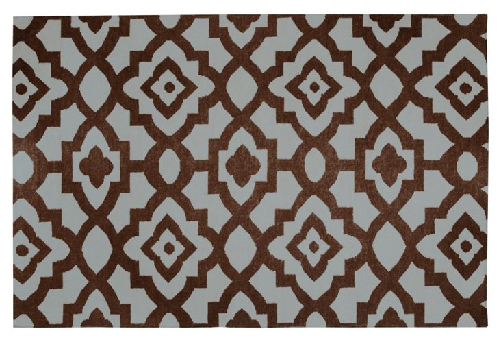 Metis Rug, Brown/Sea