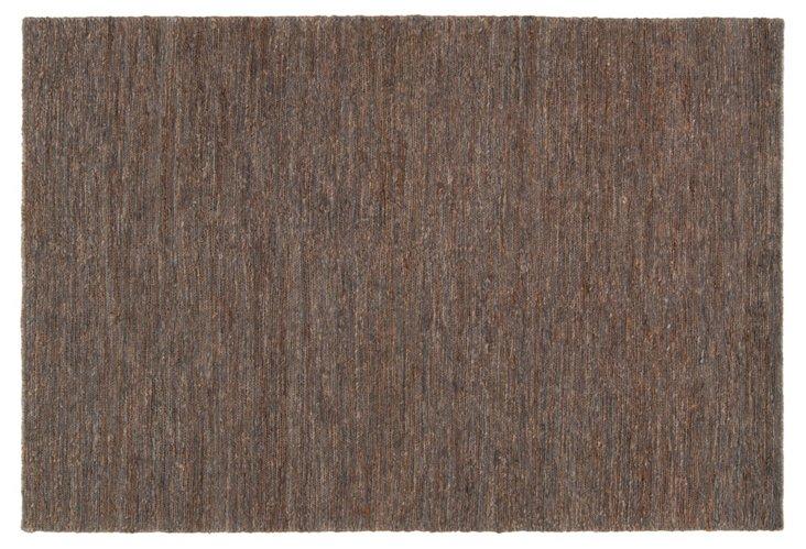 5'x8' Ari Hemp Rug, Brown