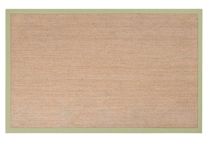 Luca Seagrass Rug, Tan/Light Green