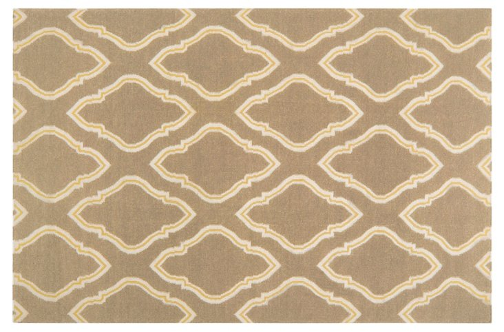 Zeus Flat-Weave Rug, Taupe