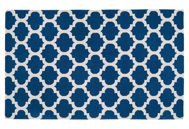 Laurel Flat-Weave Rug, Blue