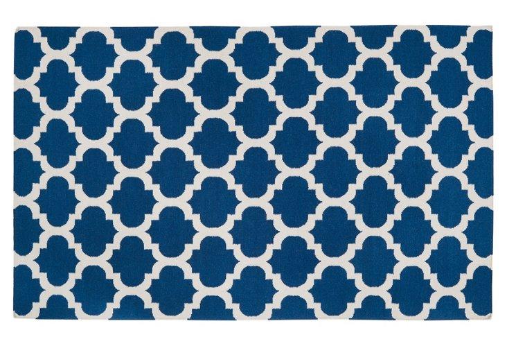 2'x3' Athena Flat-Weave Rug, Royal Blue