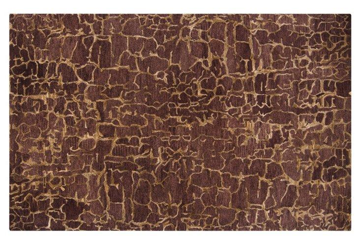5'x8' Phelan Rug, Brown