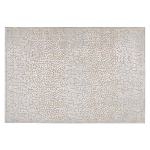 Basilica Rug, Taupe/Light Blue