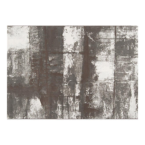 Contempo Rug, Gray/White