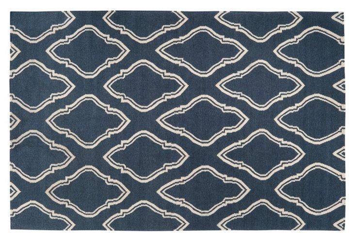 2'x3' Zeus Flat-Weave Rug, Denim