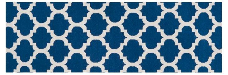 Laurel Flat-Weave Rug, Blue/White