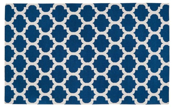 8'x11' Athena Flat-Weave Rug, Royal Blue