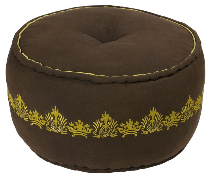 Pike Pouf, Wenge/Lime