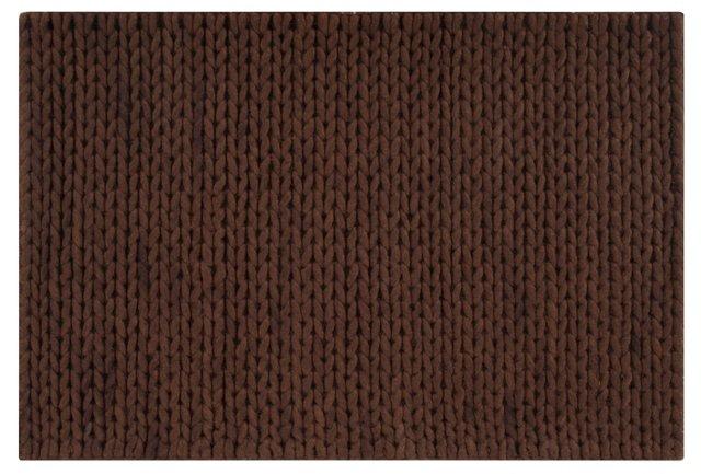 2'x3' Fargo Rug, Dark Chocolate