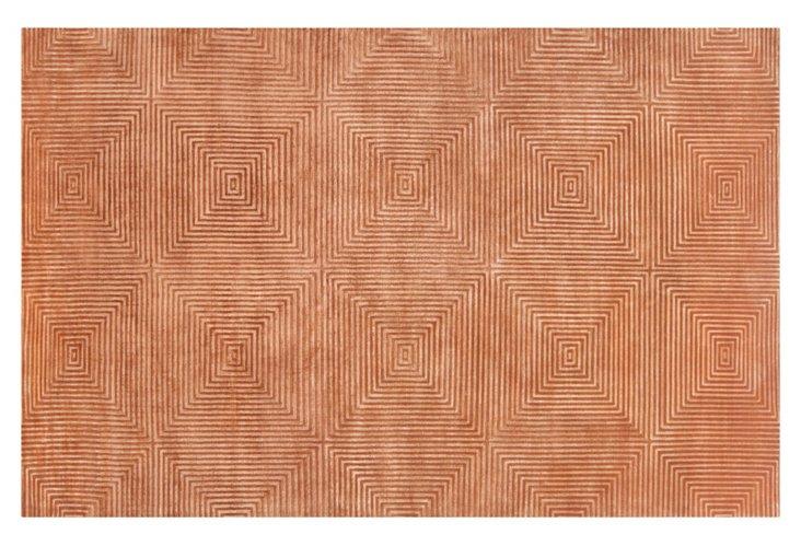 5'x8' Luminous Rug, Rust Orange