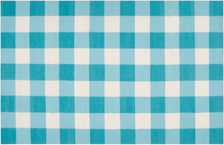 """2'6""""x8' Talyn Flat-Weave Runner, Blue"""