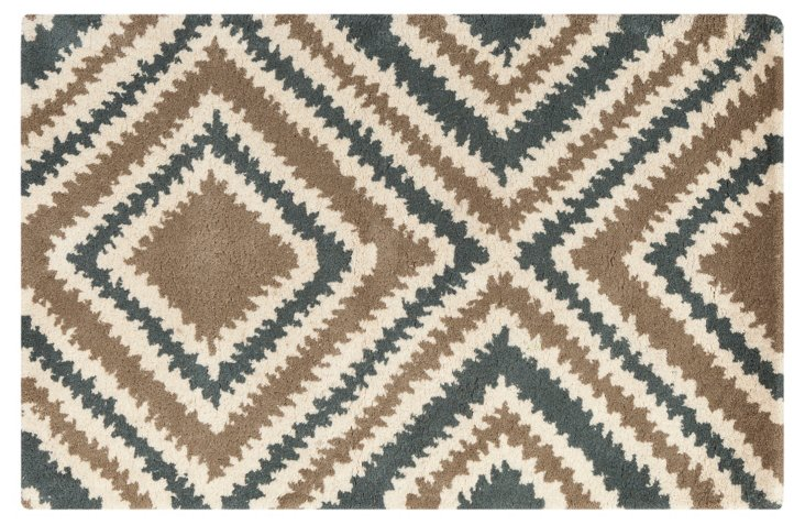 Parker Rug, Taupe/Multi