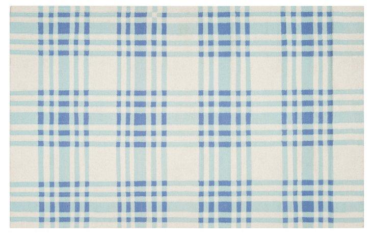 Bria Flat-Weave Rug, Blue Haze