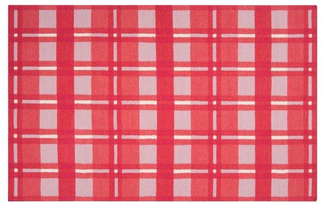 Selene Flat-Weave Rug, Red