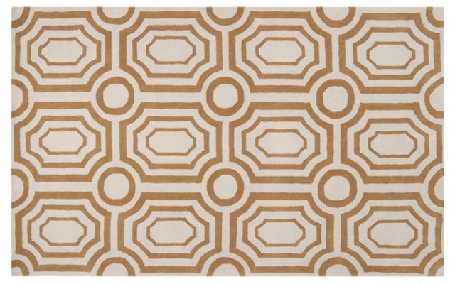 Undertow Rug, Old Gold/Ivory