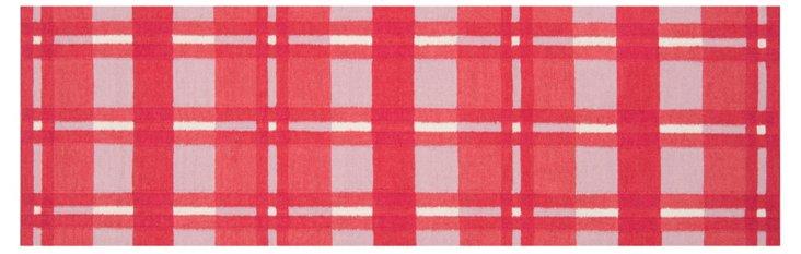 """2'6""""x8' Selene Flat-Weave Runner, Red"""