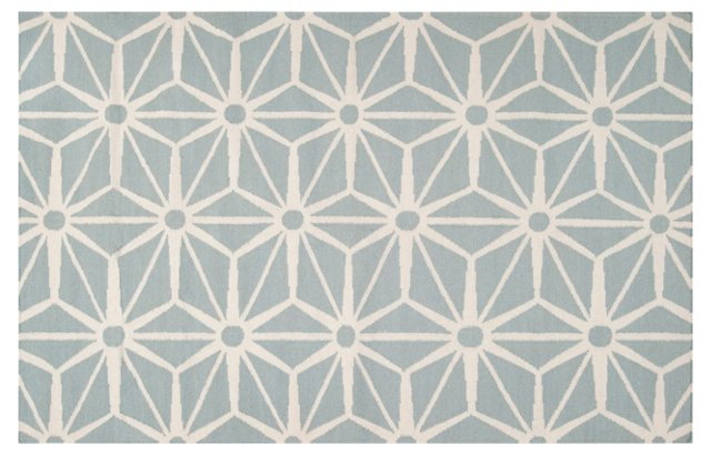 Bricklow Rug, Cloud Blue/White