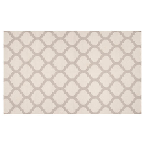 2'x3' Laurel Flat-Weave Rug, Oatmeal
