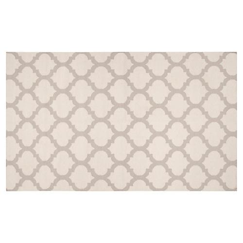 8'x11' Laurel Flat-Weave Rug, Oatmeal