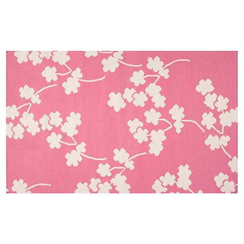 Columbia Flat-Weave Rug, Pink